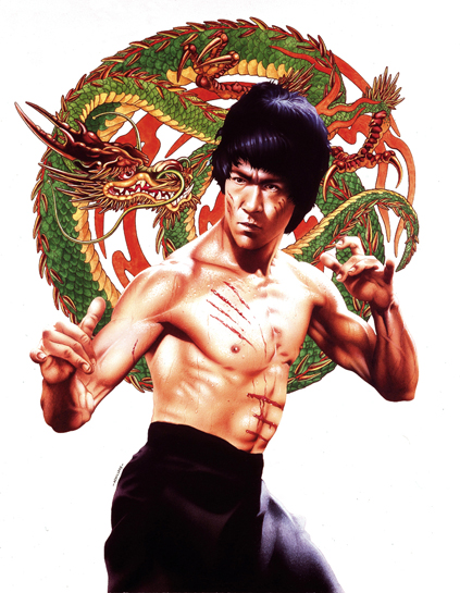 Classic Bruce Lee Dragon Painting