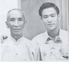 Bruce Lee with Grandmaster Yip Man (Ip Man)