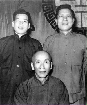 Grandmaster Ip Man with Sifu Leung Sheung