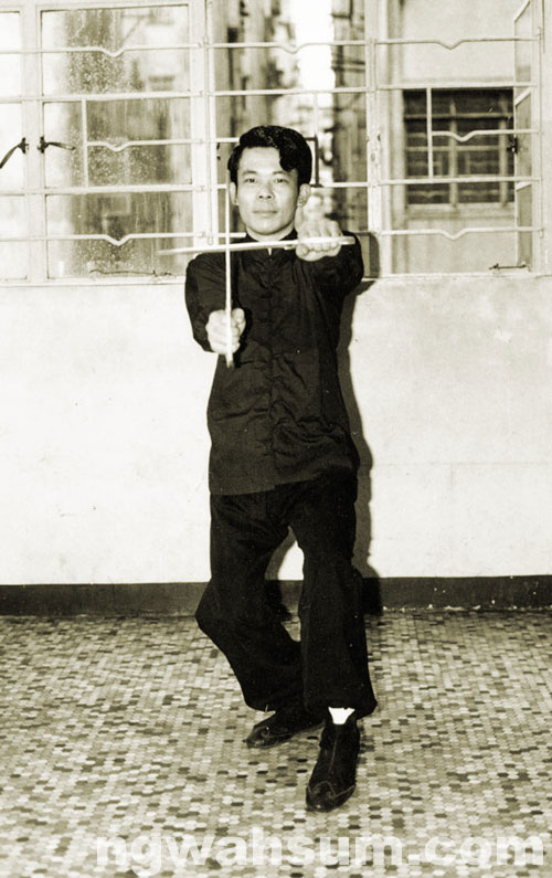 Sifu Ng Wah Sum w/ Butter Fly Swords
